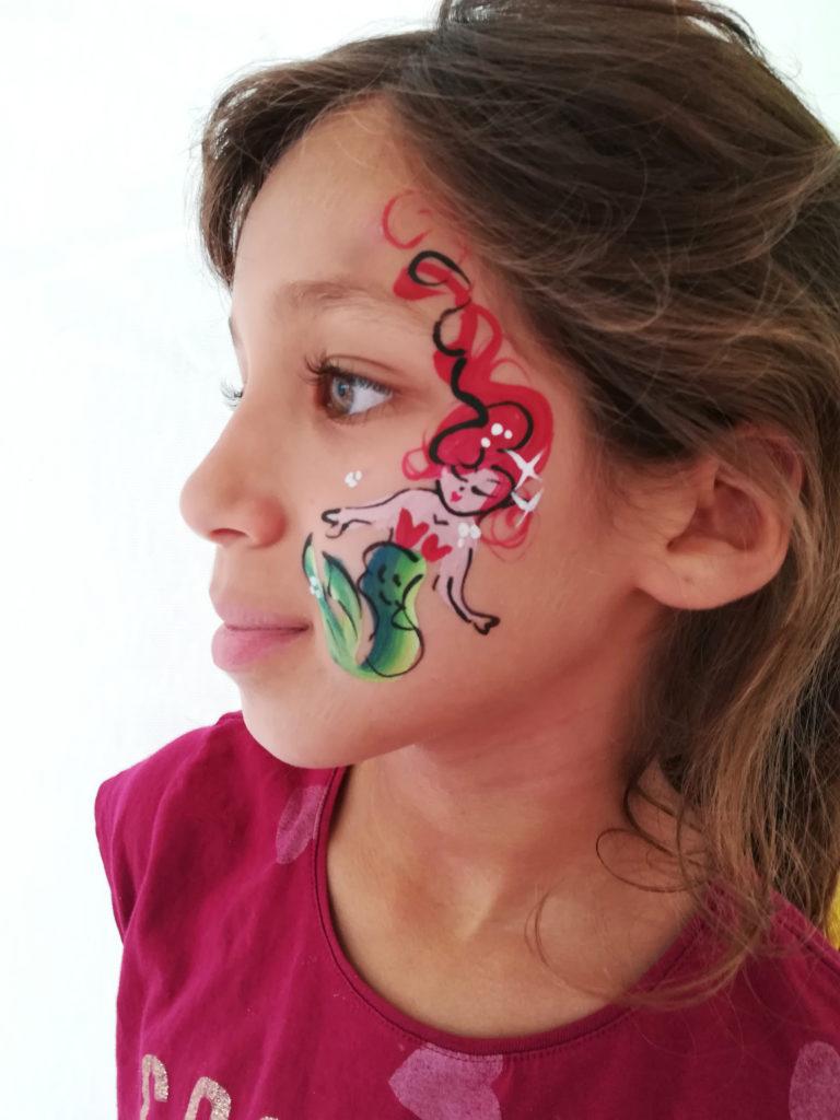 facepainting maquilleuse enfant sirene mermaid