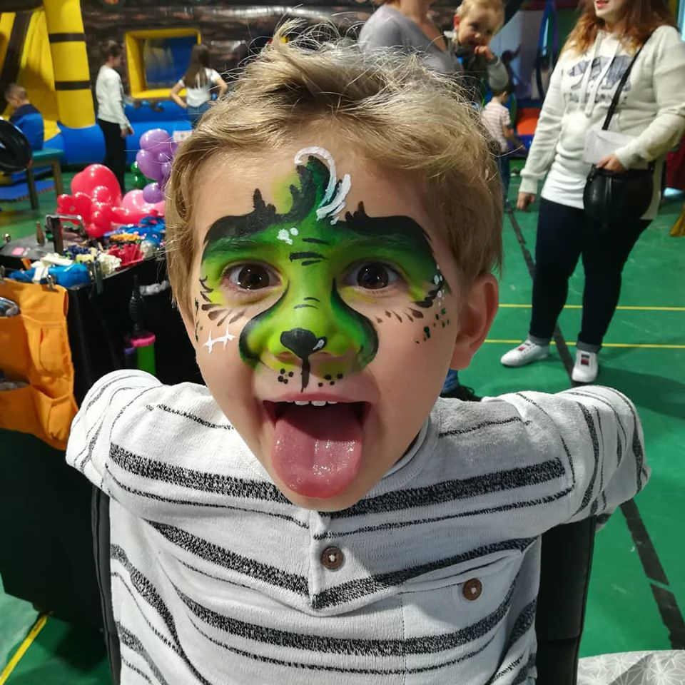 maquillage enfant grinch arbre de noel