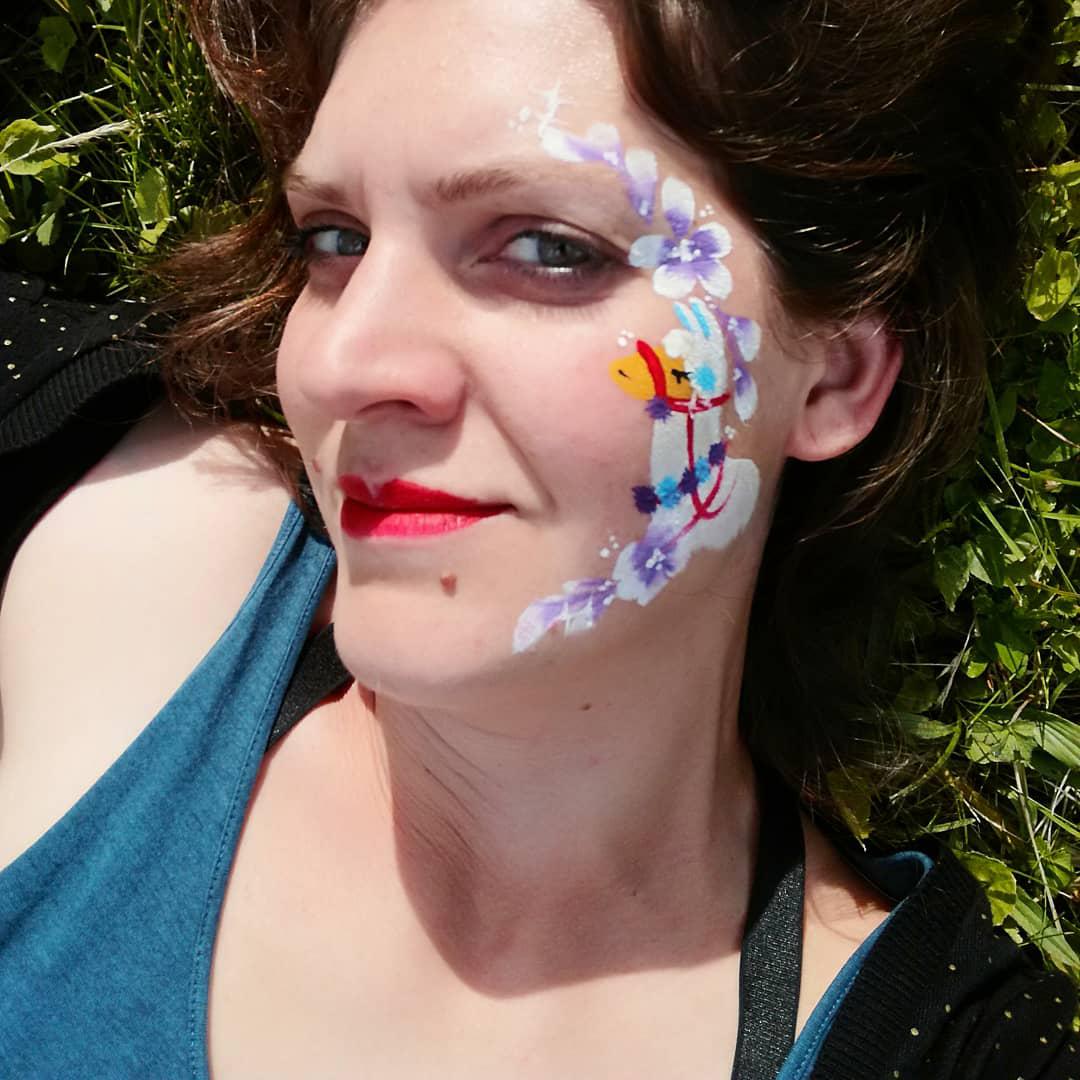 maquillage facepainting enfant adulte lama gard herault ardeche lozere vaucluse drome