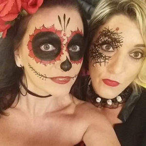 maquillage facepainting halloween adulte