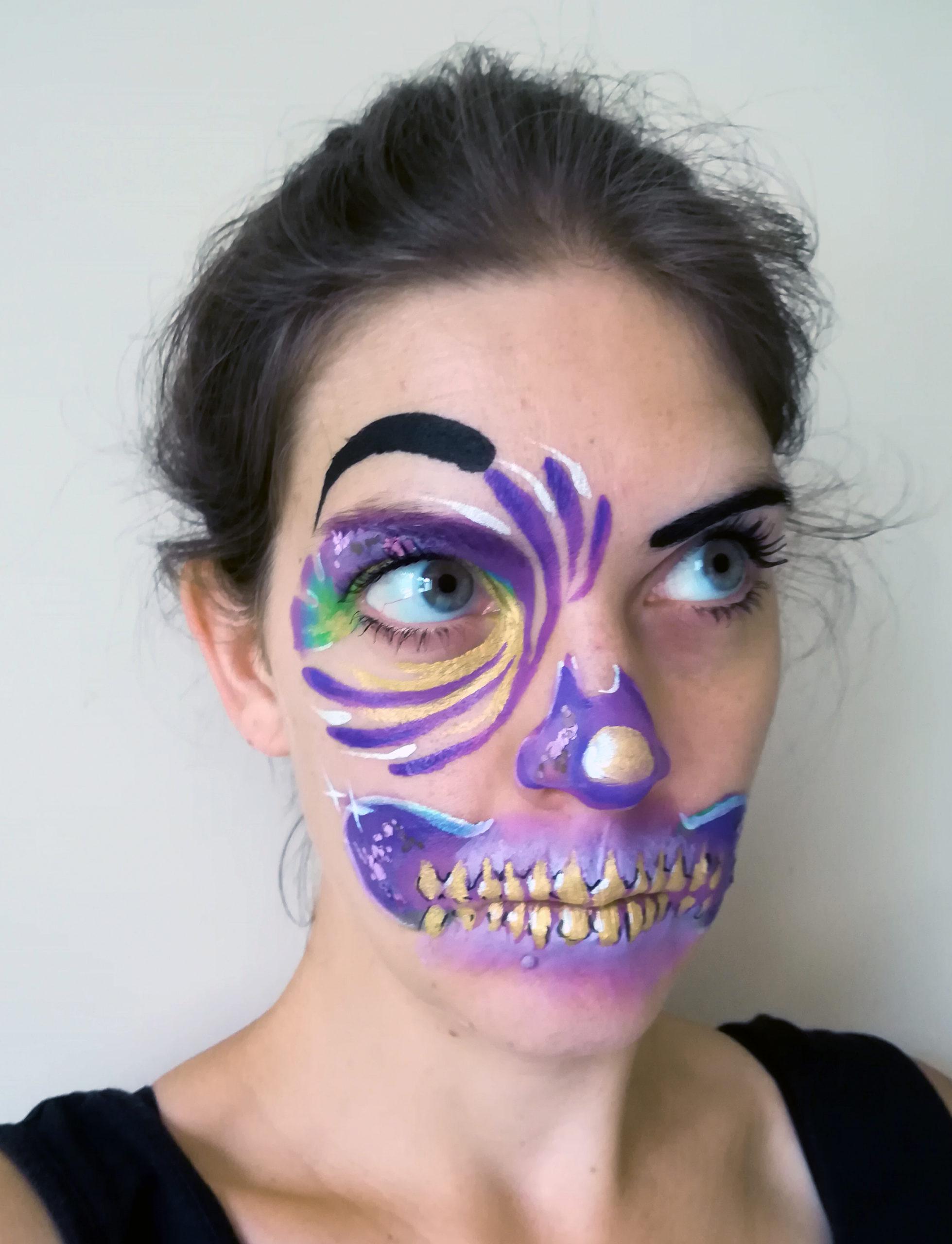 maquillage halloween skull