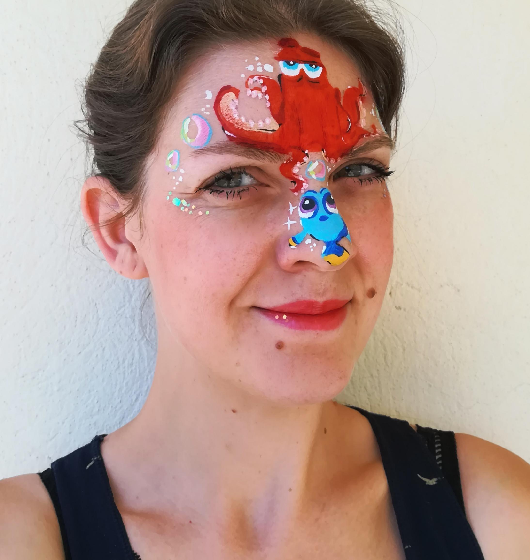 Maquillage facepainting le monde de nemo