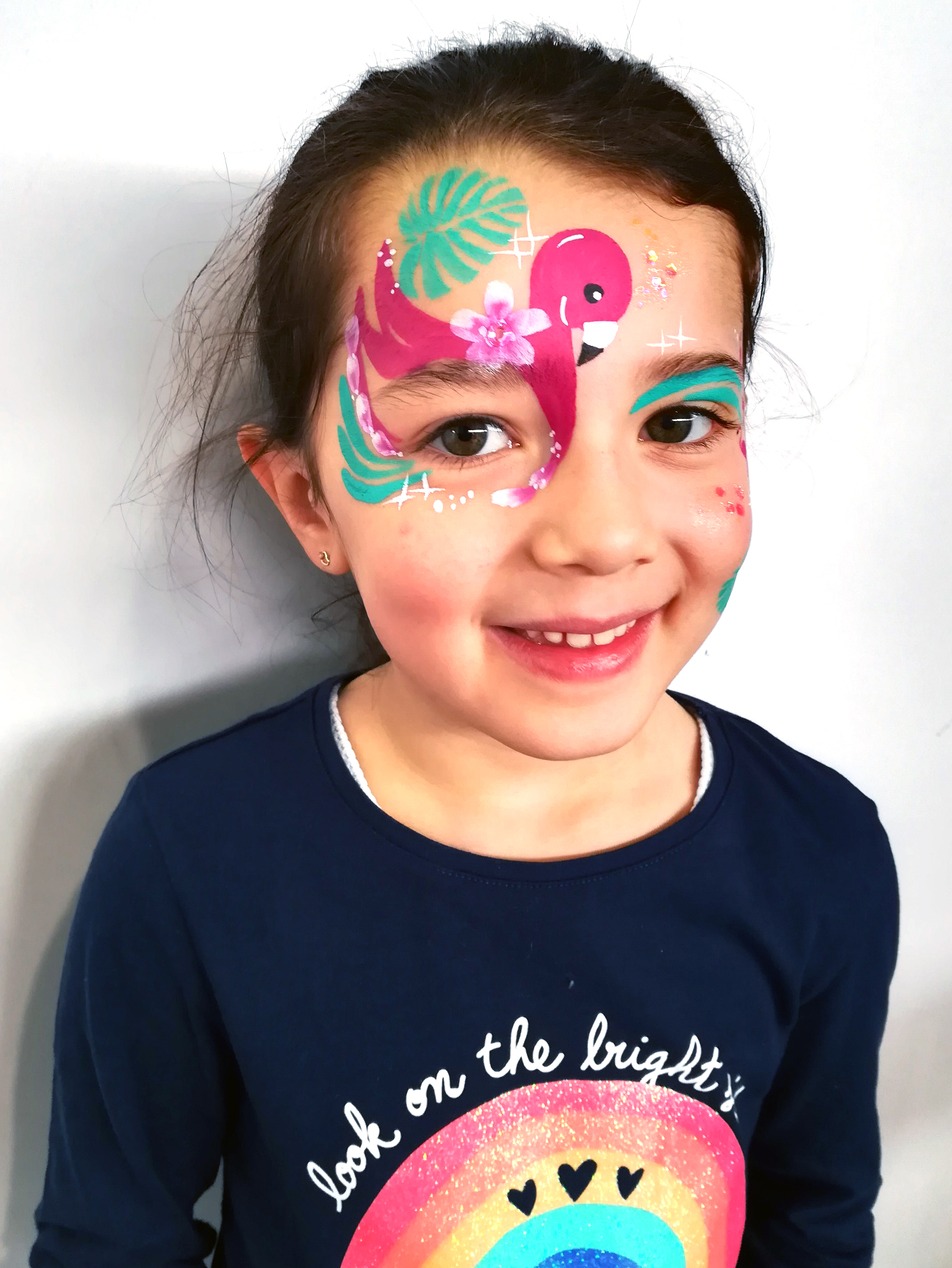 Maquillage enfant flamand rose facepainting