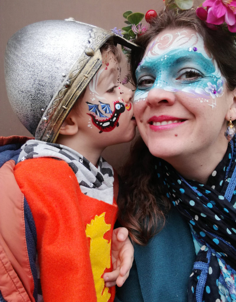maquillage face painting famille fete medievale