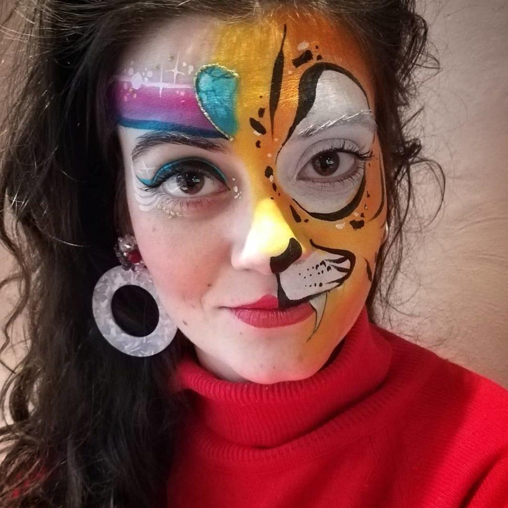 maquillage artistique facepainting disney aladdin jasmine raja princesse tigre