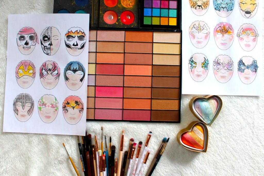 preparation planche face pating face chart mamzelle pastel