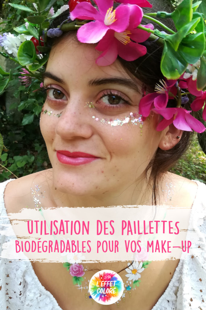 paillettes biodegradables make up
