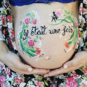 belly painting baby shower maquillage ventre femme enceinte gard herault vaucluse